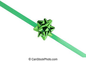 green bow ribbon