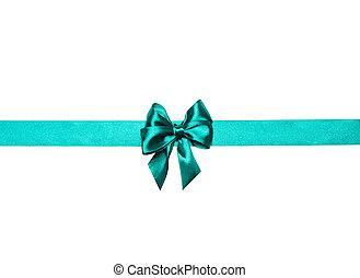 green bow, ribbon