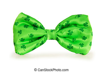 Green bow tie as a concept for St Patrick day