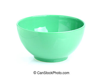 Green bowls isoleted.