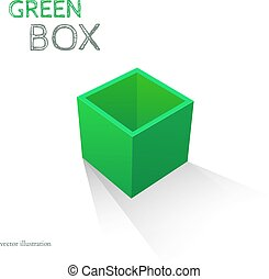 Green Box isolated on white