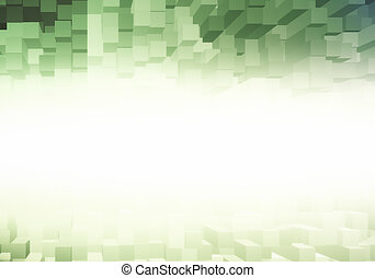 Green brick backdrop