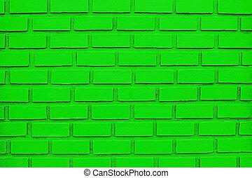 Green Brick Wall Background