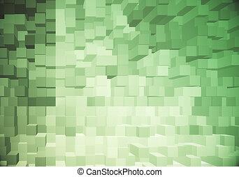 Green brick wallpaper