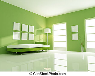 green bright room