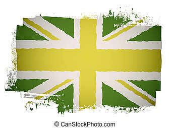 Green british flag