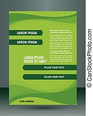 Green brochure design element
