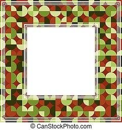 green brown abstract border