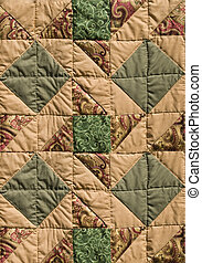 green-brown quilt design