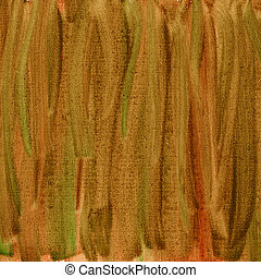green brown red watercolor abstract with canvas texture