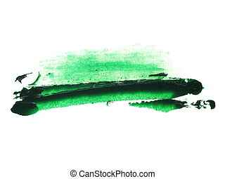 green brush strokes oil  paint