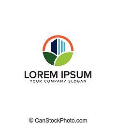 green building Logo design concept template