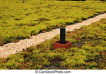 green building roof