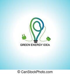 green bulb bio energy concept