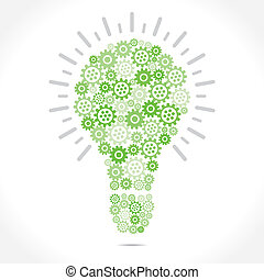 green bulb design with gear