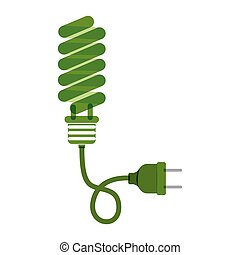 green bulb fluorescent with plug