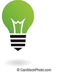 Green Bulb - Green bulb isolated on white