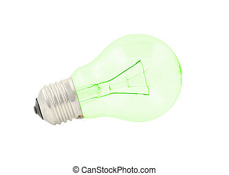 green bulb on pure w