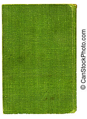 Green burlap canvas. Over white - Full screen high...