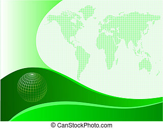 a green business card template a green and white abstract vector