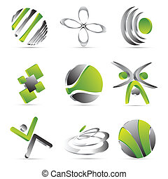 green business icons design