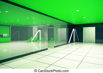 Green business interior side