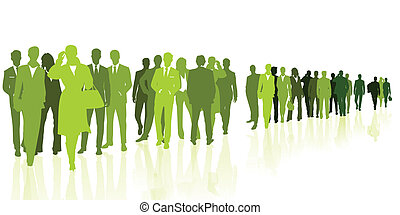 Green business people