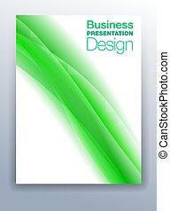 Green Business Presentation Design Background