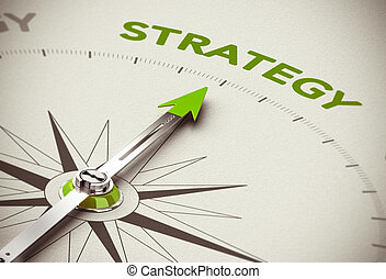 Green Business Strategy - Conceptual 3D render image with...