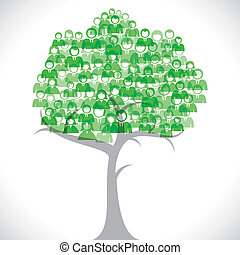 Green businessmen tree