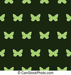 green butterfly background