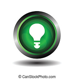 Green button bubble