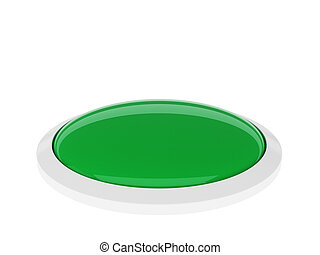 Green button isolated on white background