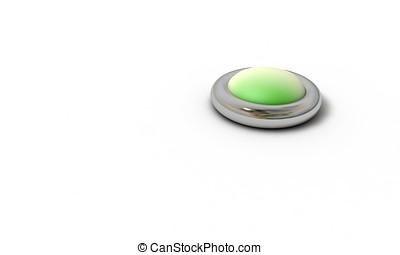 Green button model 3d render