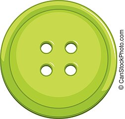 Green button on white background