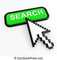 Green button SEARCH with arrow cursor.