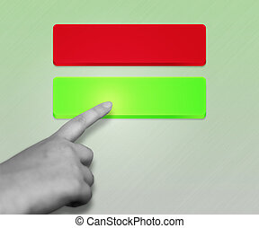Green Button Selected