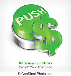 Green button with dollar