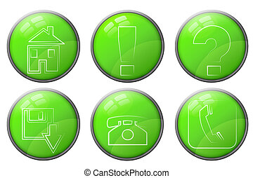 green buttons set 2
