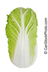 Green Cabbage XXL - A napa cabbage, isolated on white.