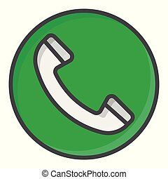 Green Call button. Vector symbol