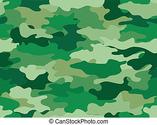 Green Camouflage Print Background - Background Illustration ...