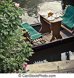 Green canals in german Spreewald.