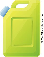 Green canister icon, cartoon style