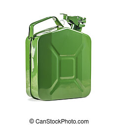 canister - green canister isolated on white