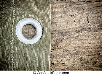 Green Canvas Wood