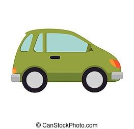green car vehicle