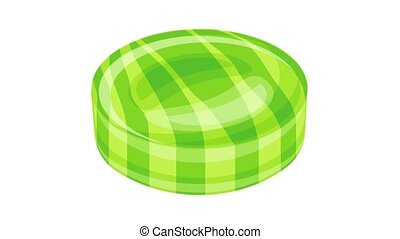Green caramel icon animation best object on white background