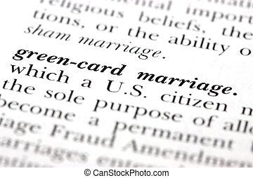 green-card, małżeństwo