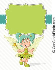 fairy girl on colorful nature background